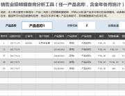 销售业绩明细查询分析工具(任一产品名称,含全年各月.xlsx
