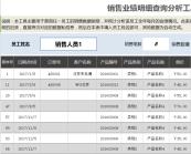 销售业绩明细查询分析工具(任一员工,含全年各月统计.xlsx